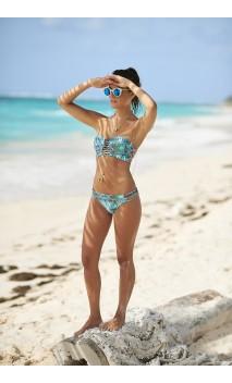 Geometry palm bikini strapless Cartagenta