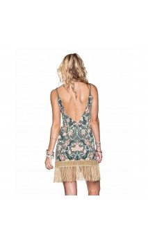 Hippie Fringe Short Dress maaji