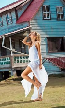 White Knotty Maxi dress Malai