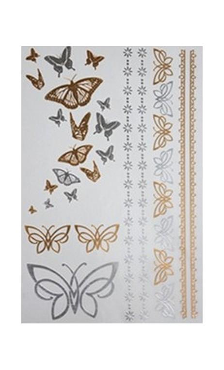Tatuajes mariposas doradas